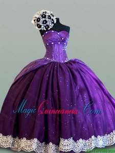 Beautiful Ball Gown Sweetheart Quinceanera Dresses with Lace for 2015