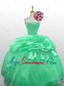 2015 Fall Beautiful Strapless Quinceanera Dresses with Appliques