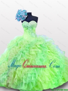 2015 New Style Quinceanera Dresses with Sequins and Ruffles