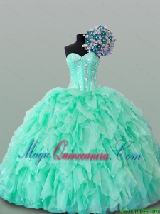2015 Winter New Style Sweetheart Quinceanera Dresses with Beading and Ruffles