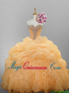 2015 Fall Luxurious Sweetheart Quinceanera Dresses with Ruffled Layers