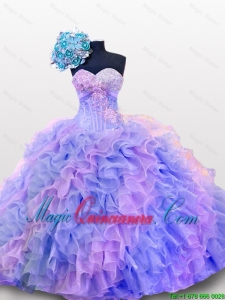 Perfect Beaded and Sequins Sweetheart Quinceanera Dresses for 2015