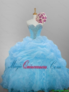 Pretty 2016 Summer Sweetheart Quinceanera Dresses with Beading and Ruffled Layers