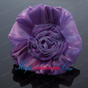 Cheaop Organza Purple Fascinators for Women