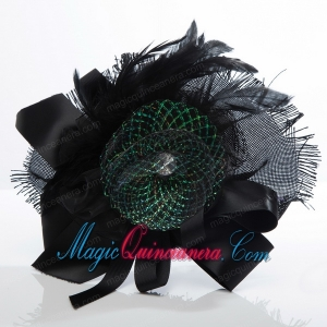 2014 Modest Beading Lace and Feather Fascinators