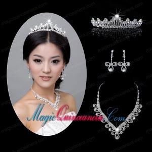 Shining Alloy With Rhinestone Ladies Jewelry Sets