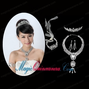 Elegant Alloy With Rhinestone Ladies Jewelry Sets