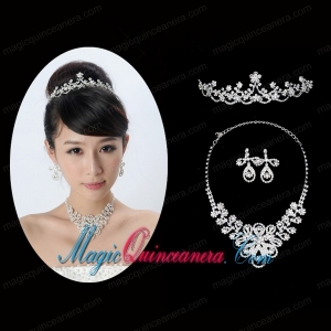 Gorgeous Alloy With Rhinestone Ladies Jewelry Sets