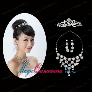 Unique Alloy With Rhinestone Ladies Jewelry Sets
