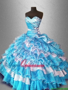 2016 Ball Gown Popular Sweet 16 Dresses with Beading and Ruffles