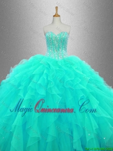 Ball Gown Elegant Sweet 16 Dresses with Beading and Ruffles for 2016