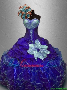 Hot Sale Ball Gown Sweet 16 Dresses with Sequins and Ruffles