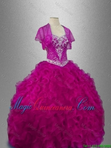 Ruffles Sweetheart New Style Quinceanera Dresses with Beading