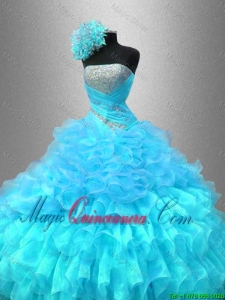 Popular Strapless Sequined Sweet 16 Gowns with Ruffles for 2016