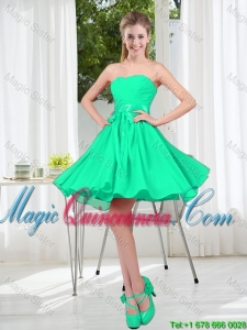 A Line Sweetheart Belt Dama Dresses for Party