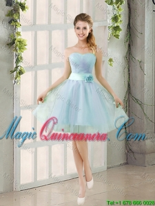 Custom Made A Line Strapless Dama Dresses with Ruching