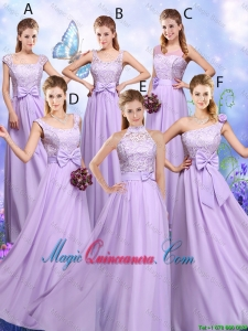 Popular Laced and Bowknot Dama esmaid Dresses with Empire
