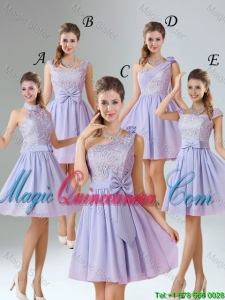 2016 Spring A Line Mini Length Dama desmaid Dresses in Lavender