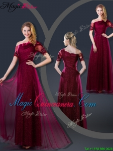 Perfect Empire Appliques Dama Dresses with Asymmetrical