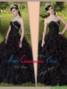 Beautiful Sweetheart Quinceanera Gowns with Ruffles Layered and Beading