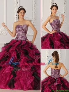 Perfect Sweetheart Ruffles Quinceanera Dresses in Multi Color