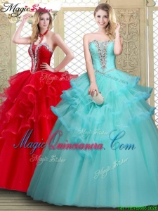 Cheap Sweetheart Quinceanera Dresses with Beading and Ruffles