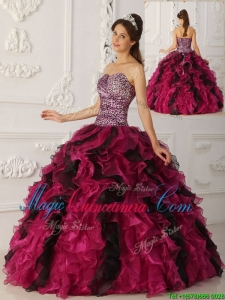 Elegant Multi Color Ball Gown Floor Length Quinceanera Dresses