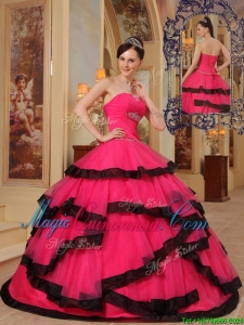 Beautiful Ball Gown Strapless Beading Quinceanera Dresses