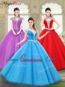 Cheap Halter Top Quinceanera Dresses with Beading