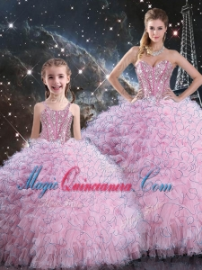 2016 Beautiful Princesita with Quinceanera Dresses with Beading and Ruffles
