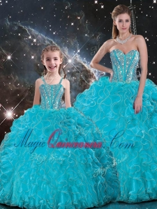 2016 Luxurious Ball Gown Princesita with Quinceanera Dresses s with Beading in Baby Blue