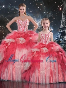 Fashionable Puffy Sweetheart Beading Princesita with Quinceanera Dresses for Winter