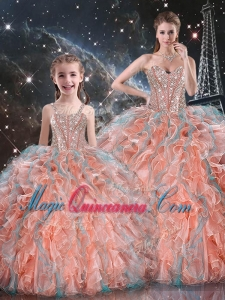 Gorgeous Ball Gown Princesita with Quinceanera Dresses with Beading and Ruffles for Fall