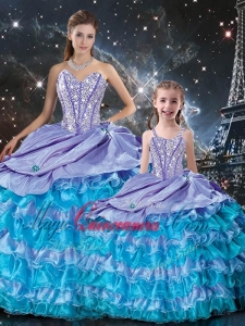 New Arrivals Ball Gown Beading and Ruffled Layers Princesita with Quinceanera Dres