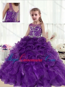 Fashionable Ball Gown Beading and Ruffles Little Girl Pageant Dresses