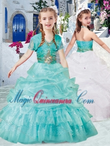 Classical Halter Top Little Girl Pageant Dresses with Beading and Bubles
