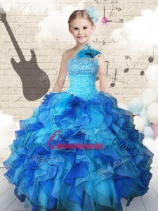 Elegant Beading and Ruffles Little Girl Pageant Dresses in Multi Color