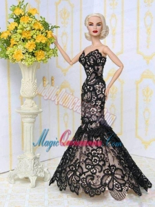 Beautiful Lace Mermaid Party Clothes Fashion Dress for Barbie Doll