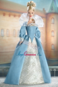 The Most Amazing Blue Dress With Long Sleeves For Barbie Doll Dress