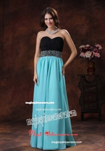 Sweetheart Beading Aqua Blue And Black Mother Dress