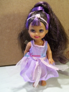 Cute Party Dress With Purple Tulle Made to Fit the Barbie Doll