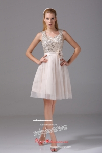 Princess Square Sash Tulle Sequins Mother Dress for 2015