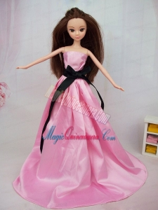Sweet Satin Pink A Line Made to Fit the Barbie Doll