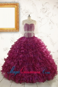 Modest Beading and Ruffles Quinceanera Dresses with Sweetheart