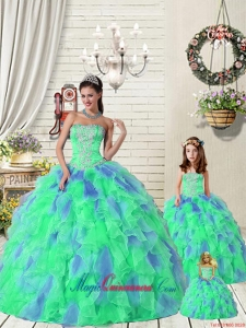 Exquisite Ruffles and Beading Multi-color Princesita Dress for 2015 Summer
