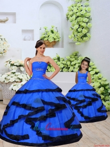 Most Popular Beading and Ruching Royal Blue Princesita Dress for 2015