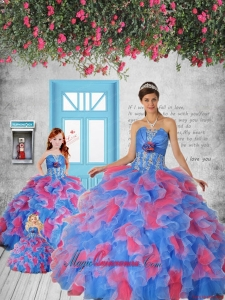 Most Popular Blue and Red Princesita Dress with Appliques and Ruffles for 2015