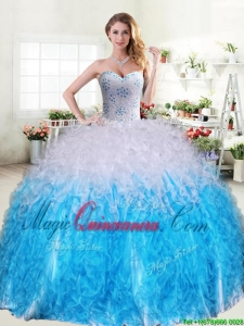 Blue And White Quinceanera Dresses | Blue And White 15 ...