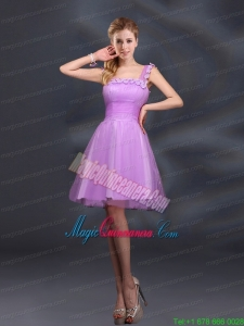 Elegant A Line Straps Lilac Mother Dresses with Appliques