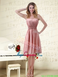 Sassy Sweetheart Ruched Mother Dresses in Chiffon with Waistband